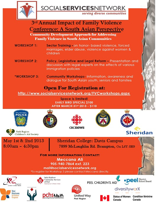 SSN 3rd Annual Impact of Family Violence Conference_A South Asian Perpective